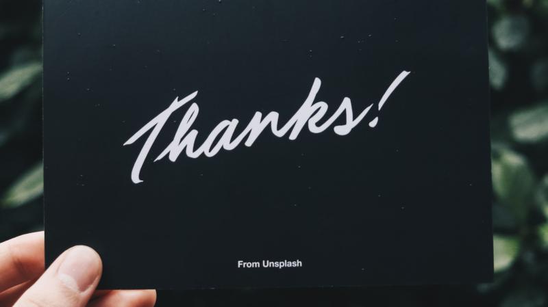 Thanks Notecard