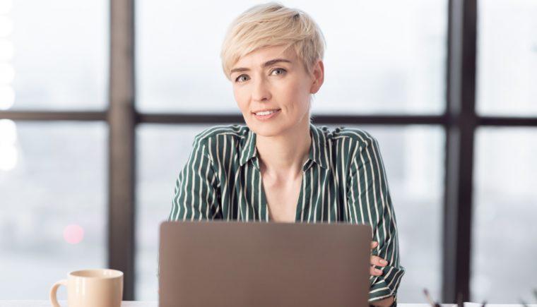 Businesswoman at laptop