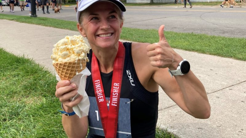 Angie Morgan After Competing in an Ironman